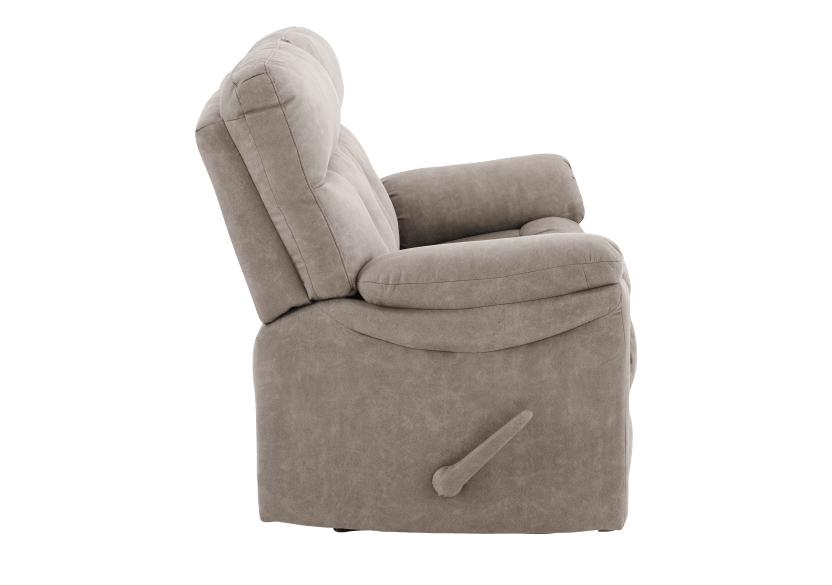 Brown-Grey Reclining Upholstered Loveseat - ELRAN product photo other02 L