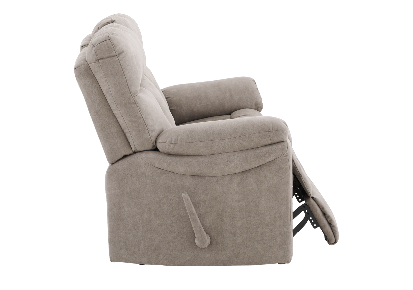 Brown-Grey Reclining Upholstered Loveseat - ELRAN product photo other03 L