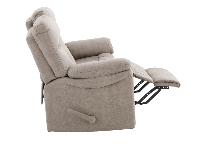 Brown-Grey Reclining Upholstered Loveseat - ELRAN product photo other04 L