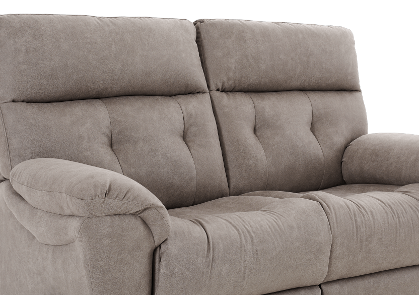 Brown-Grey Reclining Upholstered Loveseat - ELRAN product photo other06 L
