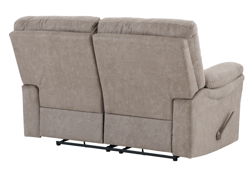 Brown-Grey Reclining Upholstered Loveseat - ELRAN product photo other08 L