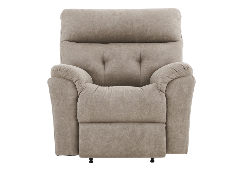 Brown-Grey Reclining, Rocking and Motorized Upholstered Armchair - ELRAN product photo Front View L