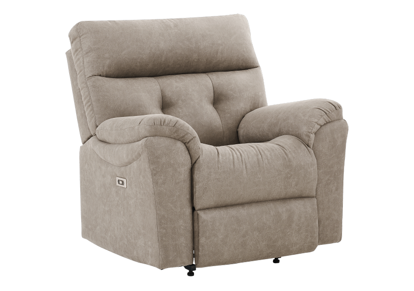 Brown-Grey Reclining, Rocking and Motorized Upholstered Armchair - ELRAN product photo other01 L