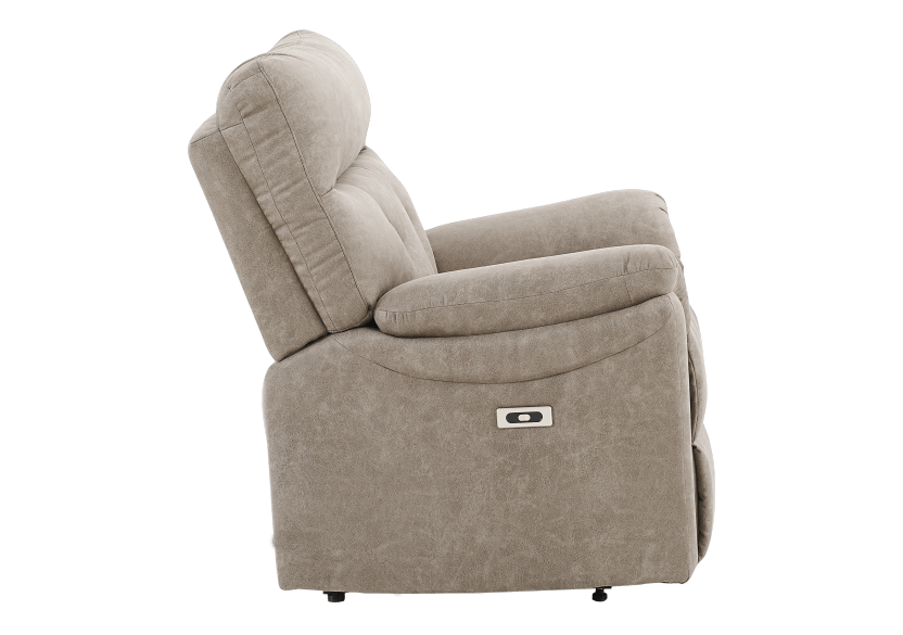 Brown-Grey Reclining, Rocking and Motorized Upholstered Armchair - ELRAN product photo other02 L