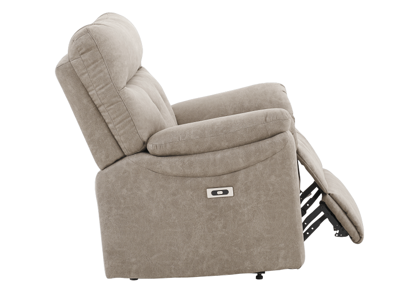 Brown-Grey Reclining, Rocking and Motorized Upholstered Armchair - ELRAN product photo other03 L