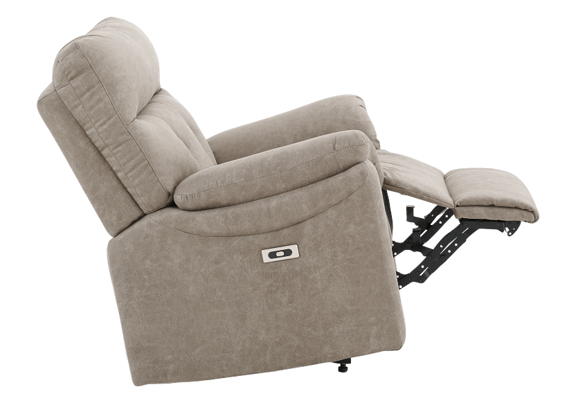 Brown-Grey Reclining, Rocking and Motorized Upholstered Armchair - ELRAN product photo other04 L