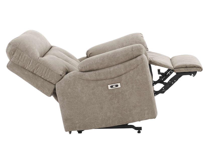 Brown-Grey Reclining, Rocking and Motorized Upholstered Armchair - ELRAN product photo other05 L