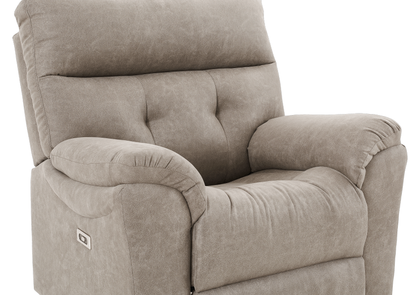 Brown-Grey Reclining, Rocking and Motorized Upholstered Armchair - ELRAN product photo other06 L