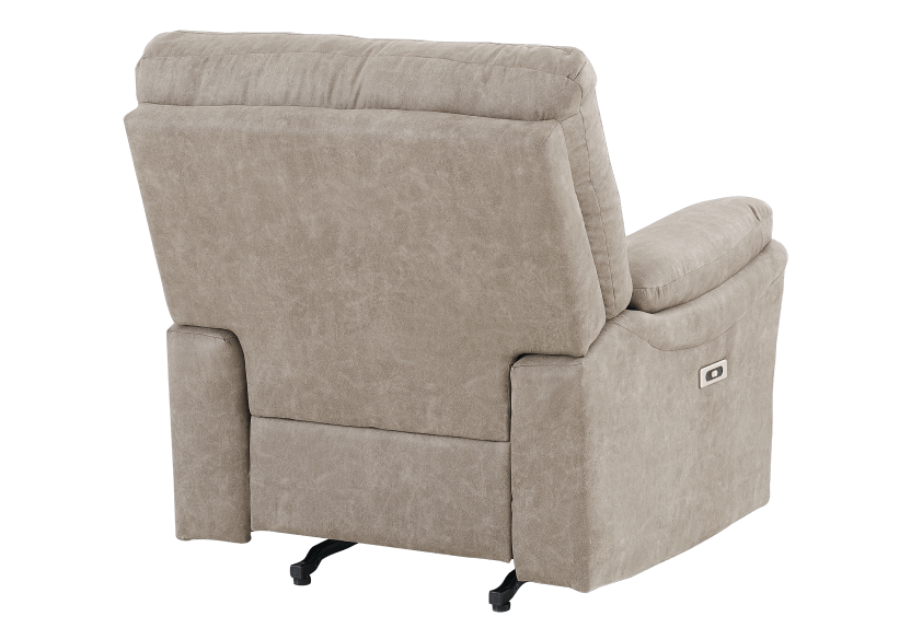Brown-Grey Reclining, Rocking and Motorized Upholstered Armchair - ELRAN product photo other08 L