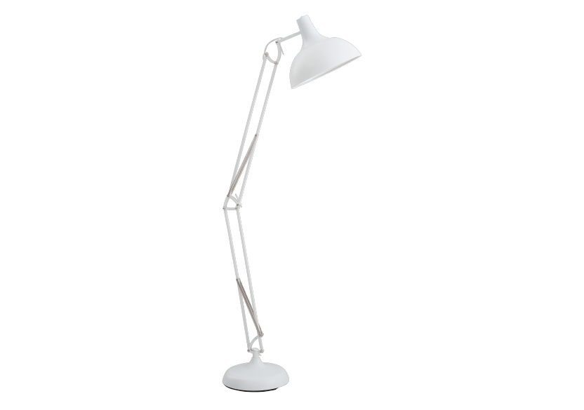White Metal Floor Lamp product photo Front View L