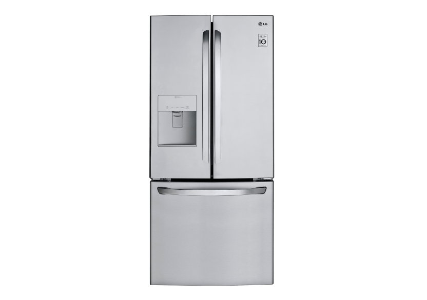 LG Bottom Freezer and French Doors Refrigerator - LRFWS2200S product photo Front View L