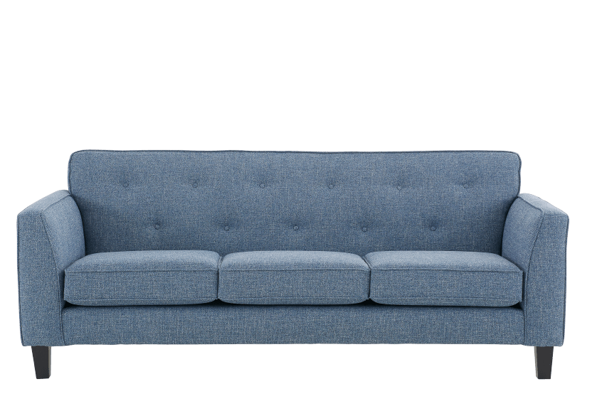 Blue Upholstered Sofa product photo Front View L