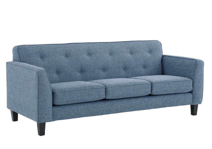 Blue Upholstered Sofa product photo other01 L