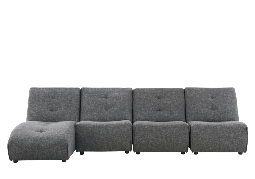 Dark Grey Upholstered Modular Sectional Sofa product photo