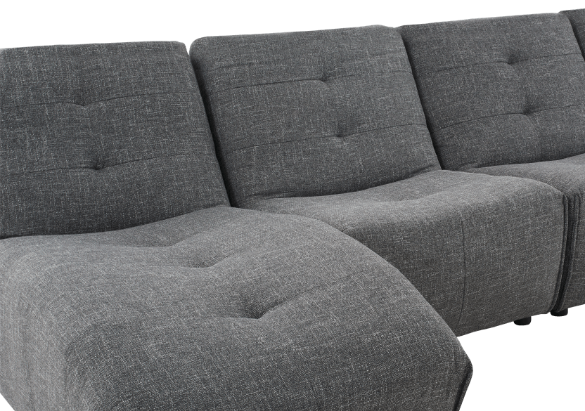 Dark Grey Upholstered Modular Sectional Sofa product photo other03 L