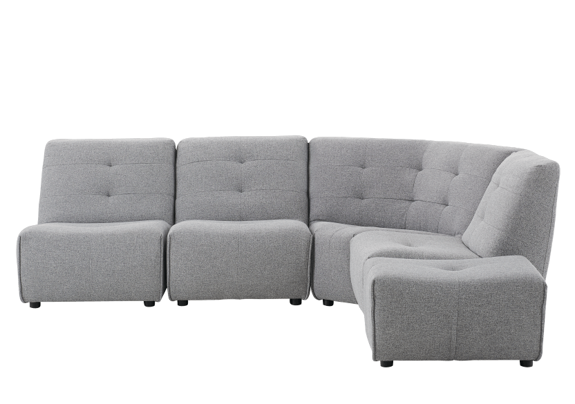 Grey Upholstered Modular Sectional Sofa product photo Front View L