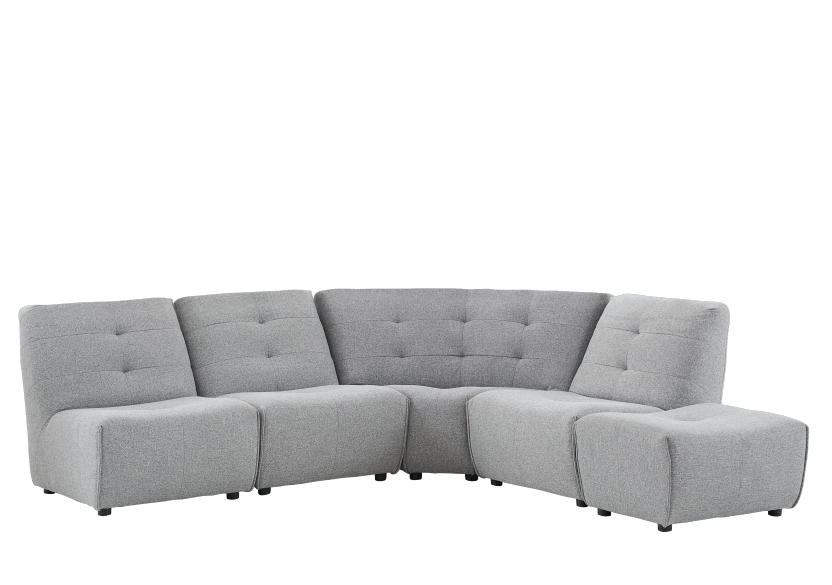 Grey Upholstered Modular Sectional Sofa product photo other01 L