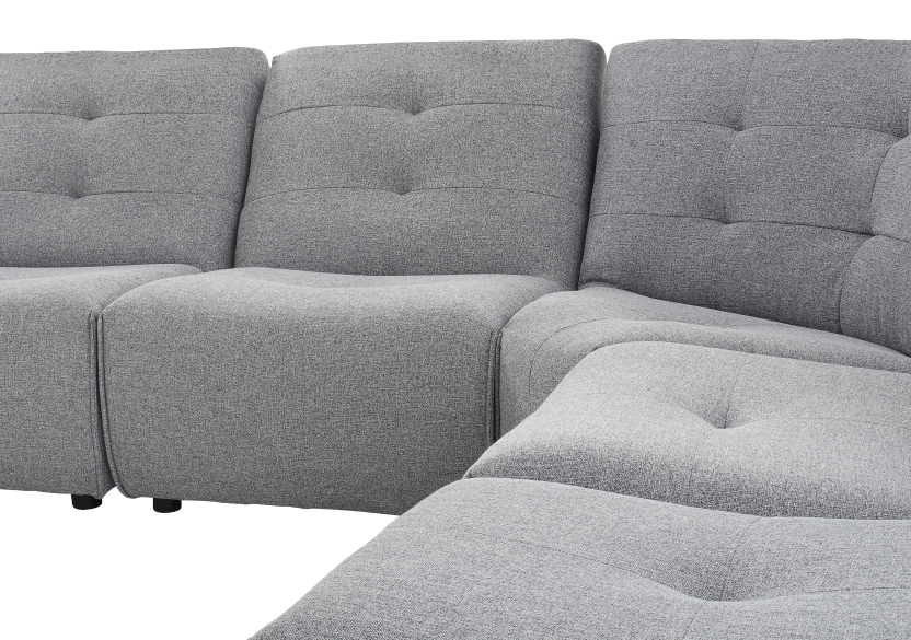Grey Upholstered Modular Sectional Sofa product photo other03 L