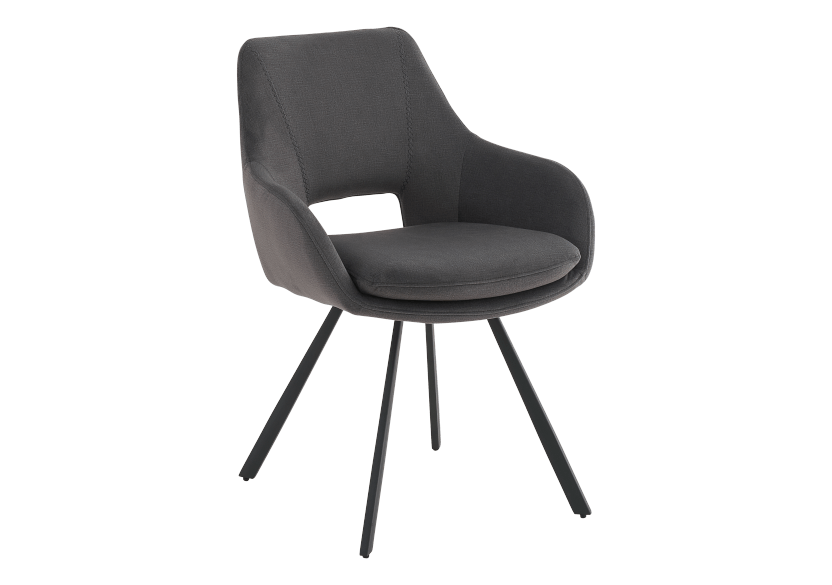 Black Upholstered Chair product photo other01 L