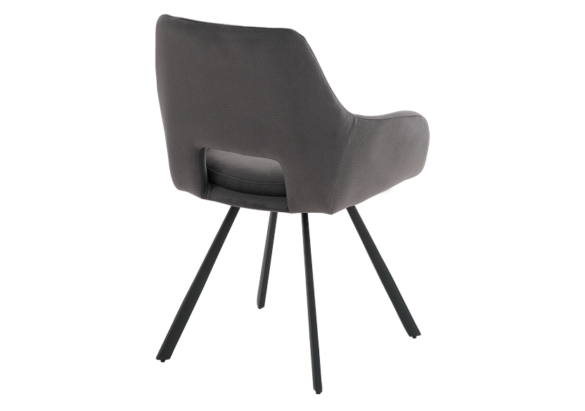 Black Upholstered Chair product photo other03 L
