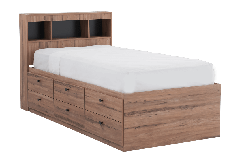 Brown Twin Kid Drawer and Storage Bed product photo other01 L