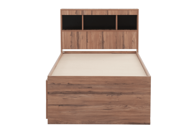 Brown Twin Kid Drawer and Storage Bed product photo other07 L