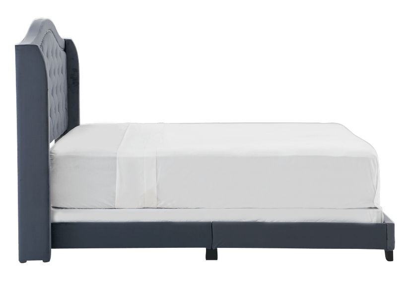 Dark Grey Upholstered - Queen Bed product photo other02 L