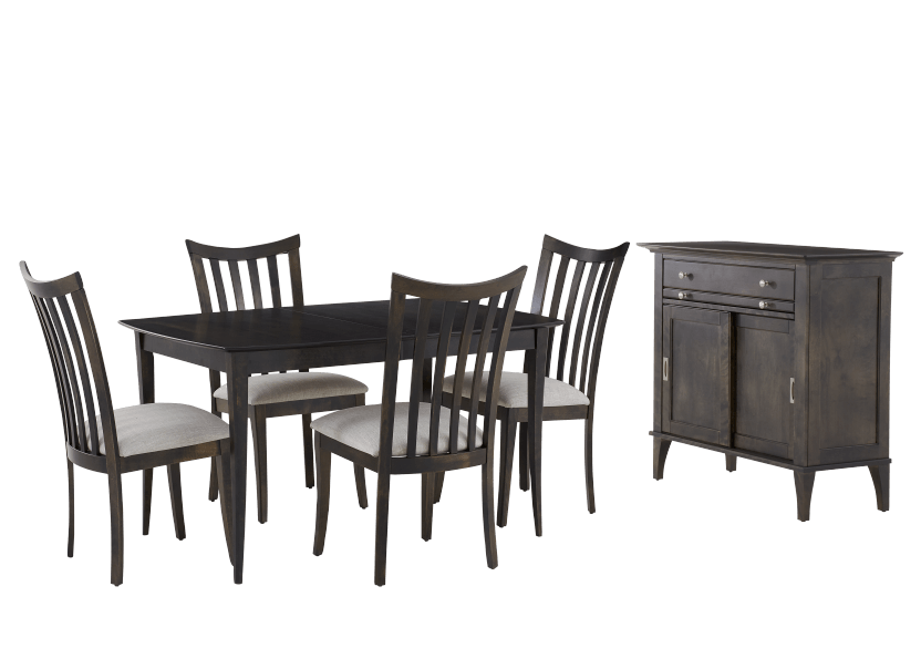 Dark Brown Birch Wood Dining Room Furniture product photo