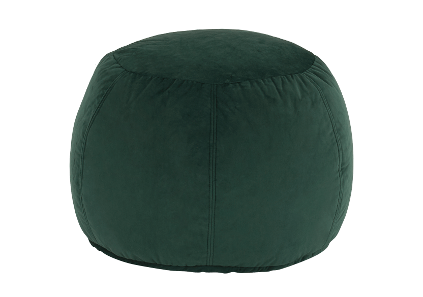 Green Velvet Ottoman product photo Front View L