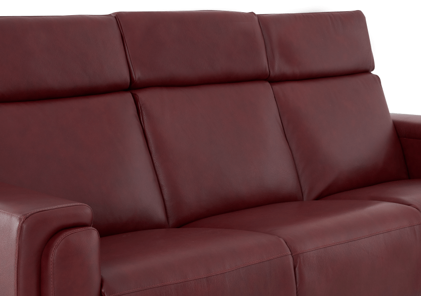 Red Reclining and Battery Motorized Sofa with Genuine Leather Seats - ELRAN product photo other06 L