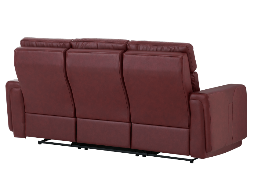 Red Reclining and Battery Motorized Sofa with Genuine Leather Seats - ELRAN product photo other08 L