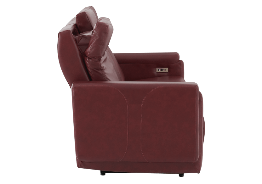 Red Reclining and Battery Motorized Sofa with Genuine Leather Seats - ELRAN product photo other10 L