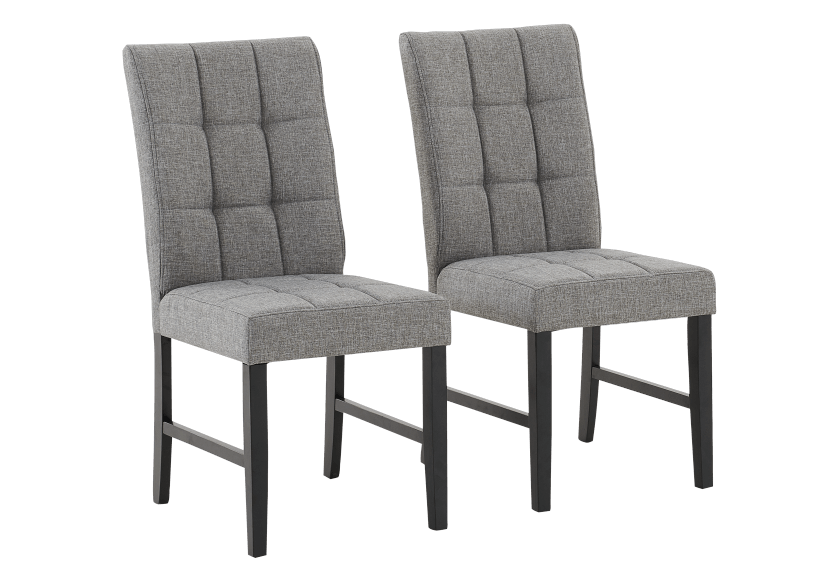 Set of 2 Chairs with Grey Upholstered Seats product photo other01 L