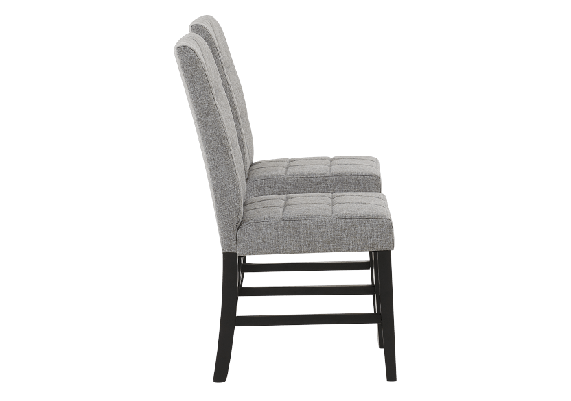 Set of 2 Chairs with Grey Upholstered Seats product photo other02 L
