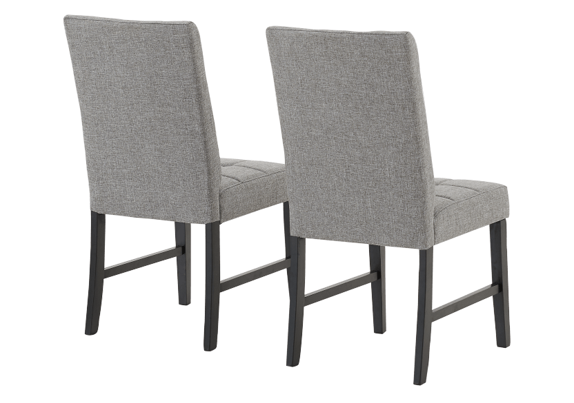 Set of 2 Chairs with Grey Upholstered Seats product photo other03 L
