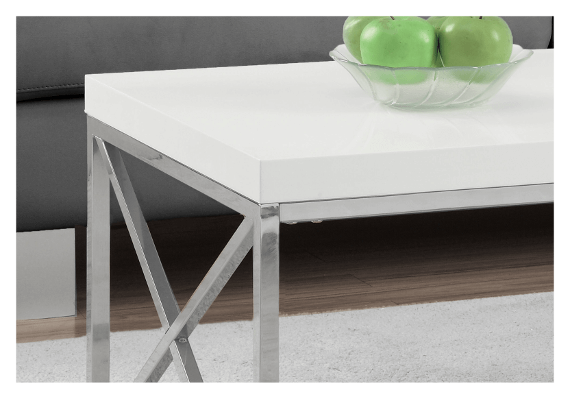 White Coffee Table with Metal Legs product photo other01 L