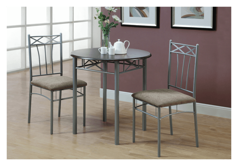 Dark Brown Kitchen Room Furniture with Silver Grey Metal Legs product photo other04 L