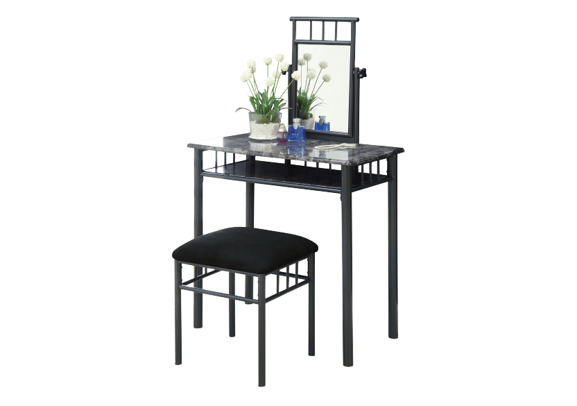 Dark Grey Metal Dressing Table product photo