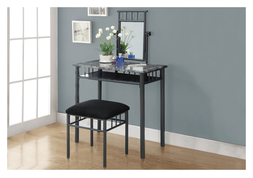 Dark Grey Metal Dressing Table product photo other04 L