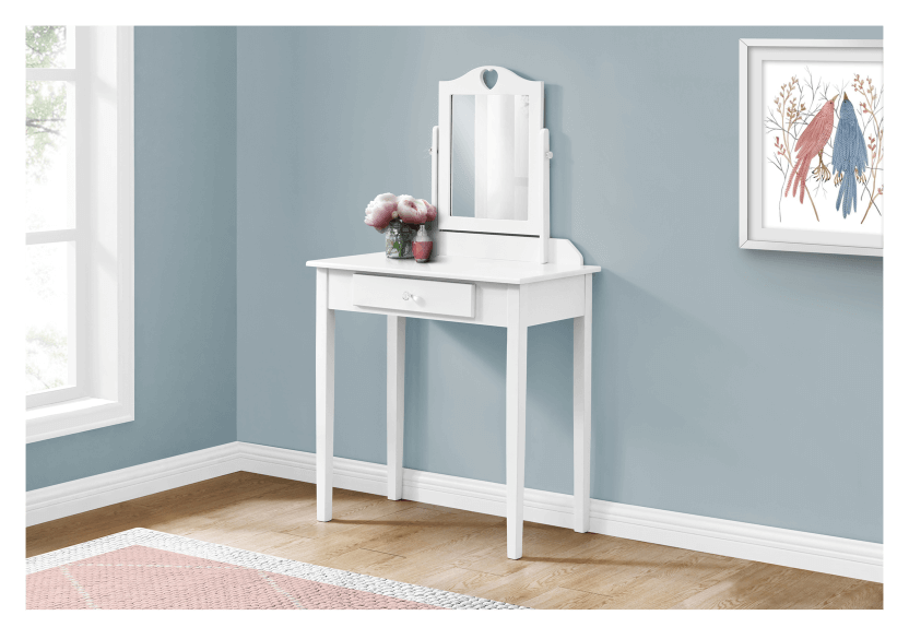 White Wood Dressing Table product photo other04 L