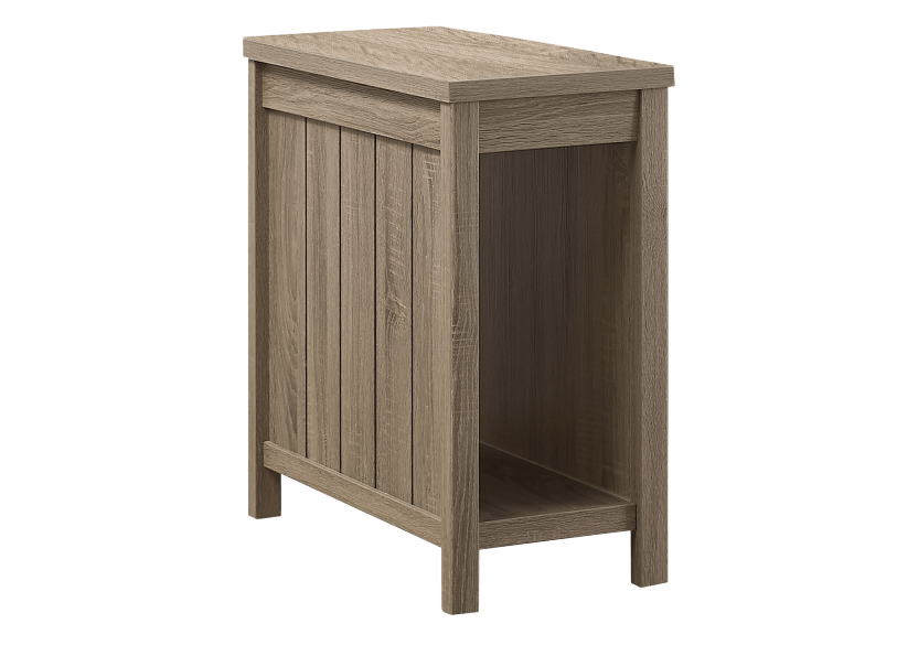 Dark Brown Grey Accent Table  product photo