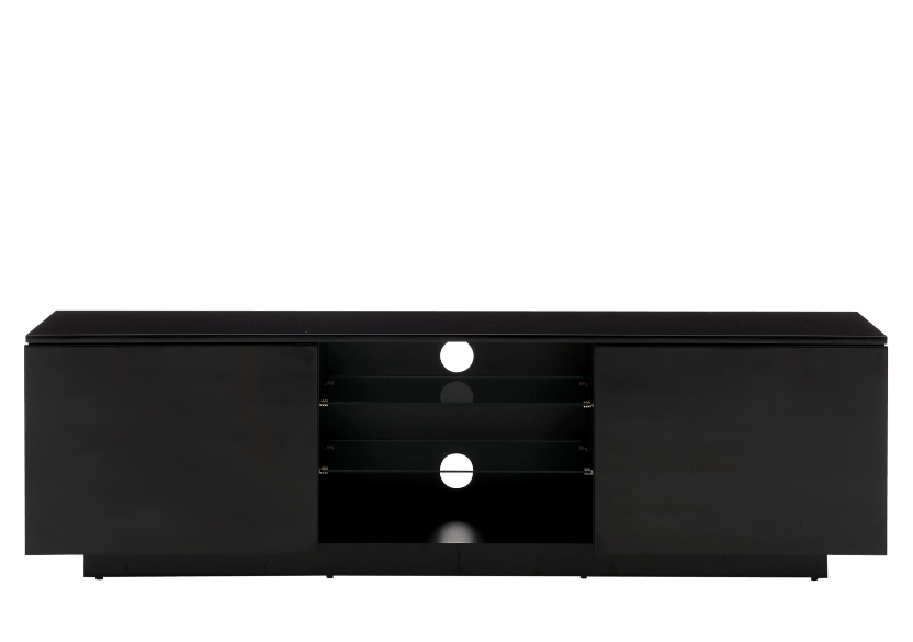 Black 2-Shelf TV Stand product photo Front View L