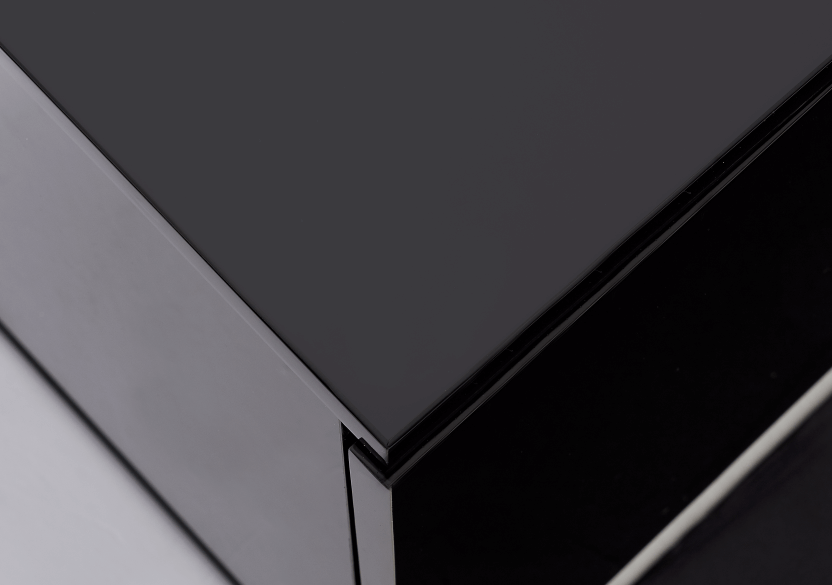 Black 2-Shelf TV Stand product photo other04 L