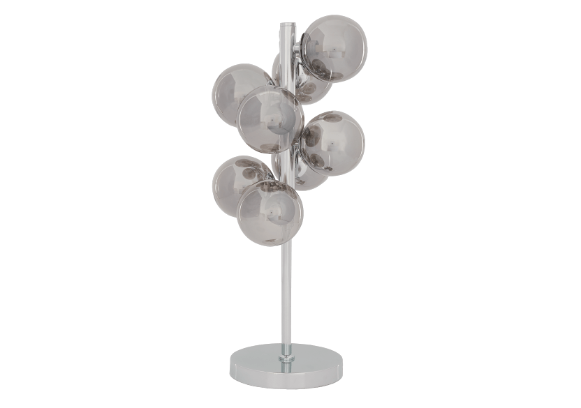 Silver Grey Metal and Glass Table Lamp product photo