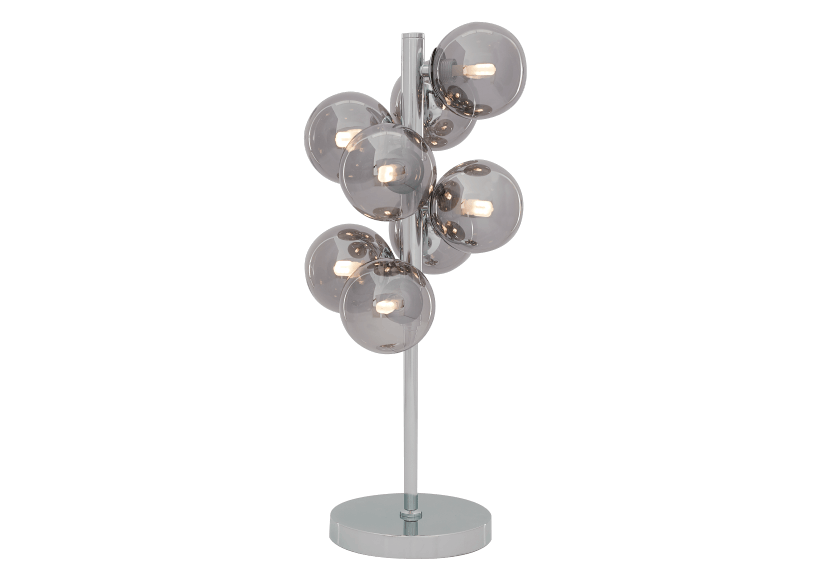 Silver Grey Metal and Glass Table Lamp product photo other01 L