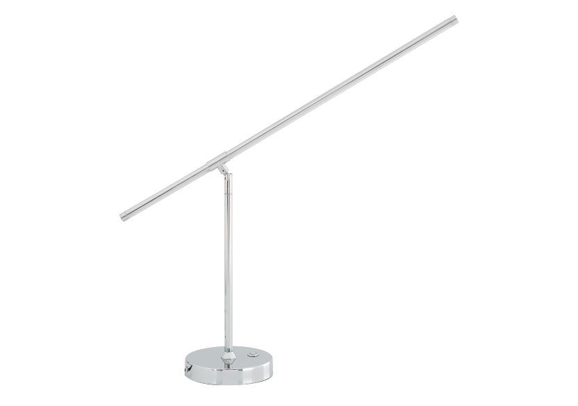 Silver Grey Metal Table Lamp product photo