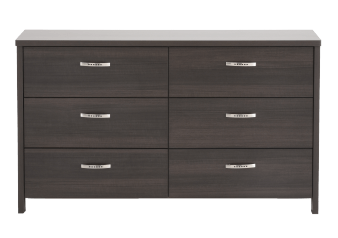 Dark Grey 6-Drawer Dresser product photo