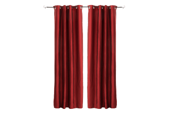 "Set of 2 54X96"" Red Curtains product photo"
