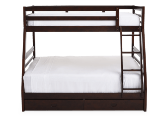 Brown Twin/Double Kid Bunk Bed product photo