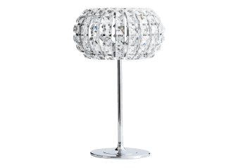 Metal Bedside Lamp with Crystals Shade product photo